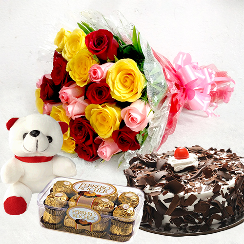 Brilliant Cake N Flowers Delivery In Hyderabad Hyderabadgiftsdelivery Com Personalised Birthday Cards Veneteletsinfo
