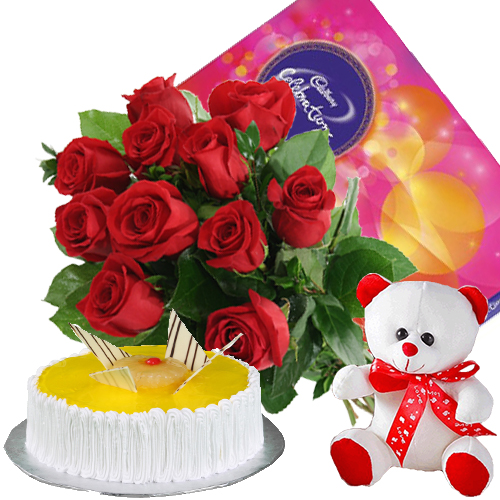 Midnight Cake And Flower Delivery In Hyderabad