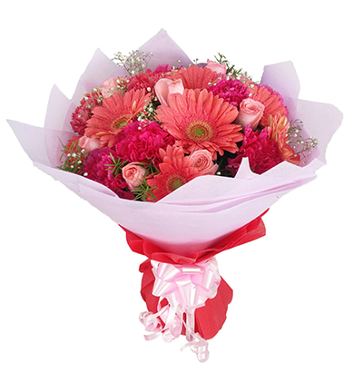 Bokeh Online Delivery In Hyderabad 30 Pink Flowers Bunch
